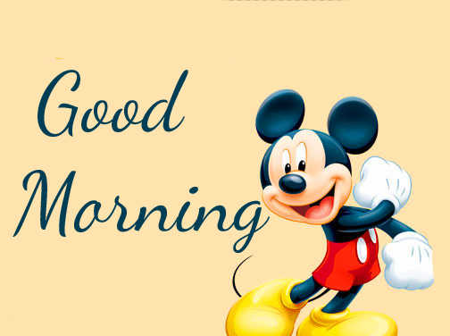 Mickey Mouse Cartoon Good Morning Pic