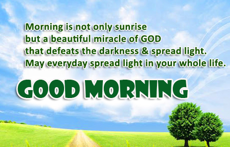 Nature Blessing Good Morning Quote Pic