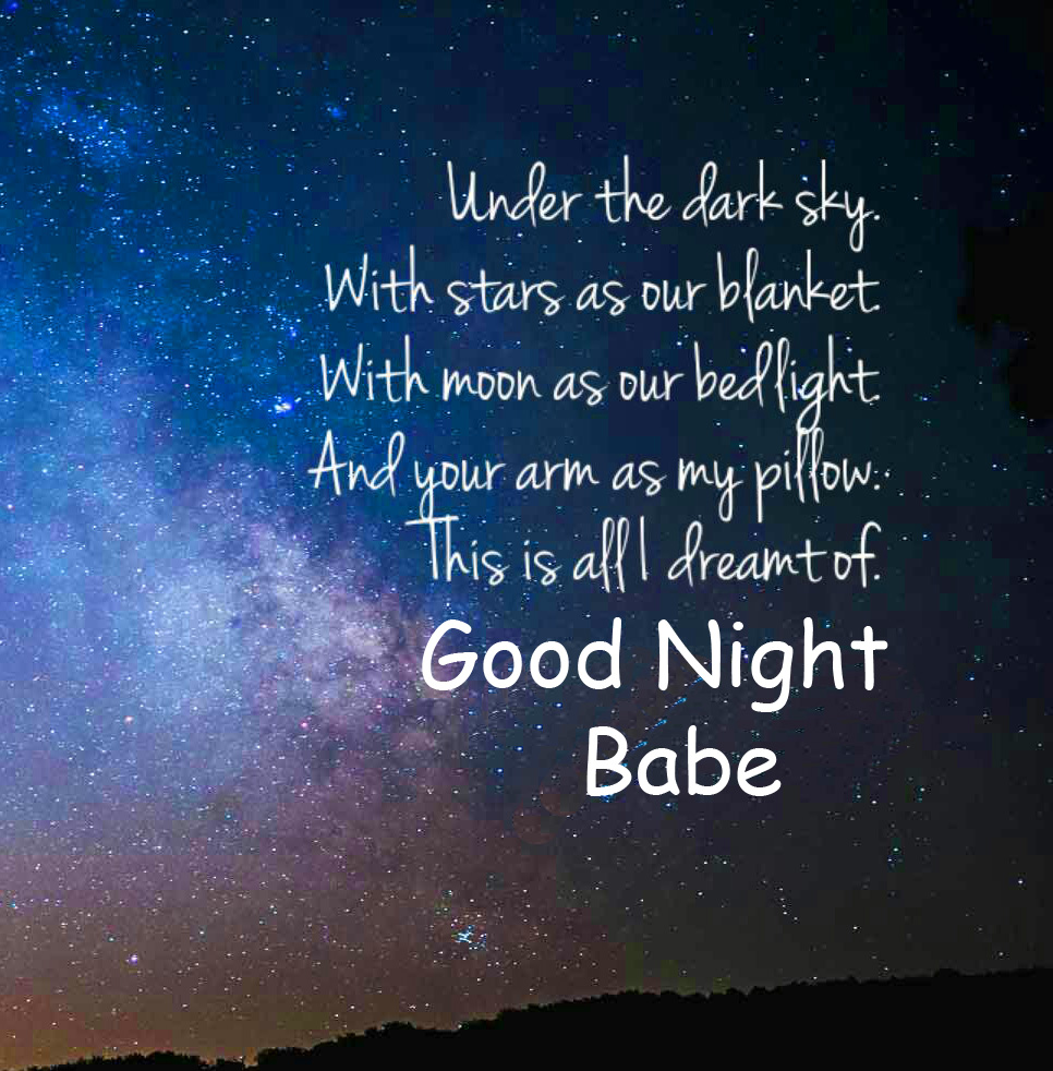 Quote Good Night Babe Sweet Picture