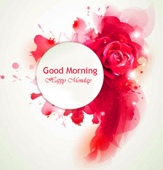 Red Sweet Good Morning Happy Monday Wallpaper