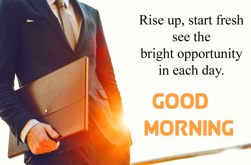 Rise Up Inspirational Quote Good Morning Image