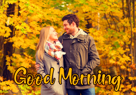 Smiling Sweet Couple Good Morning Picture