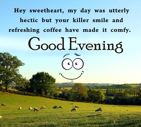 Sweet Heart Quotes Good Evening Image