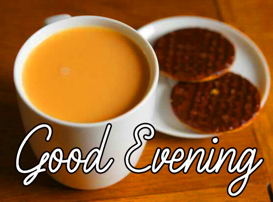 Tea and Snack Good Evening Image