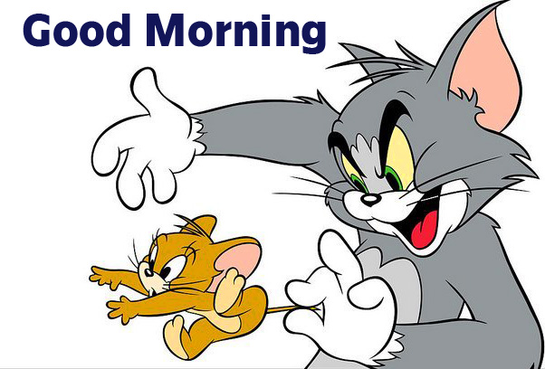 Tom and Jerry Cartoon Good Morning Image