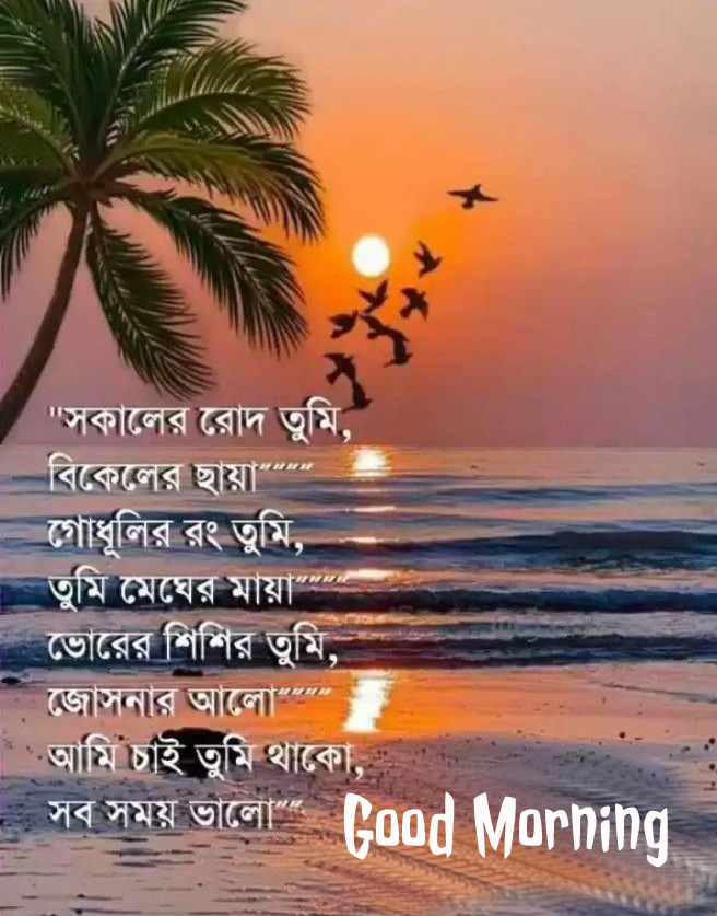 Very Beautiful Bengali Quote Good Morning Pic