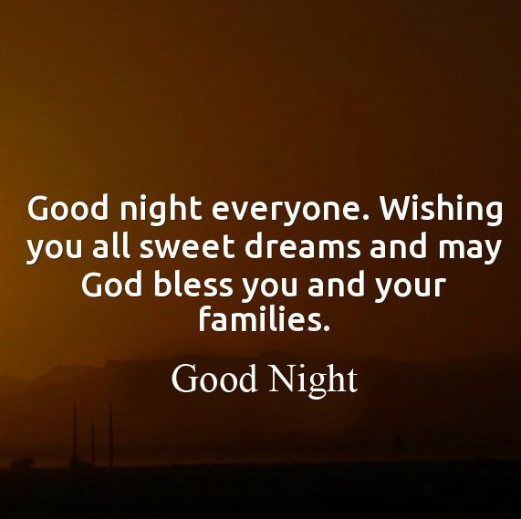 Wishing Good Night Blessing Quote Image