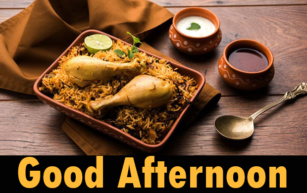 Amazing Non Veg Lunch Good Afternoon Image