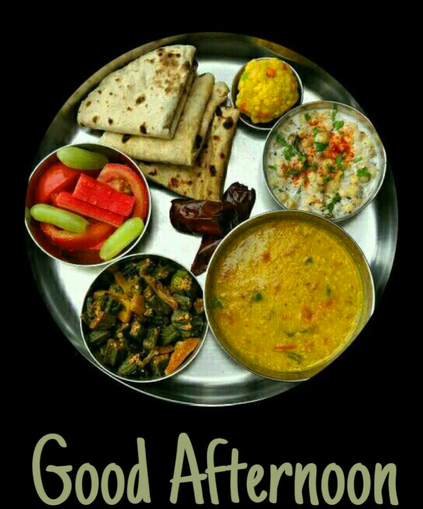 Best Lunch Thali Good Afternoon Picture