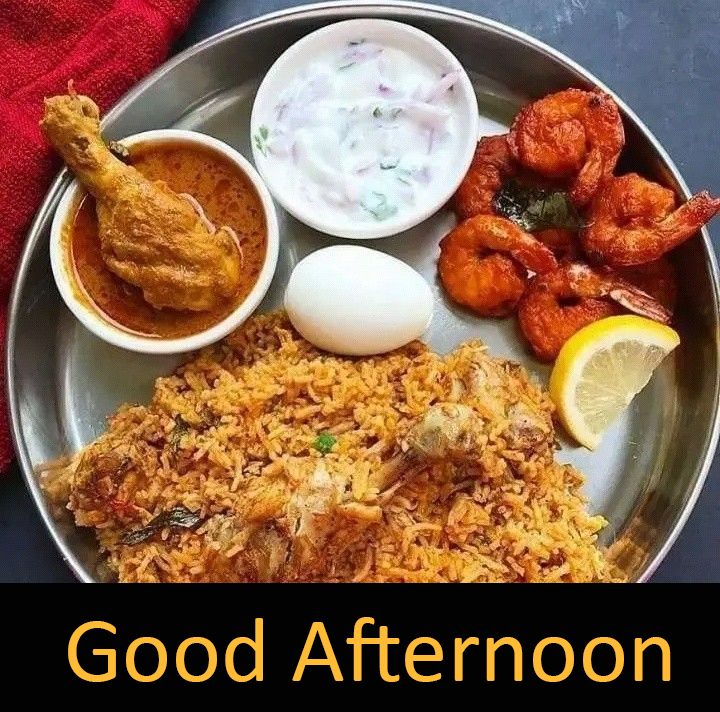Best Tasty Non Veg Lunch Good Afternoon Image