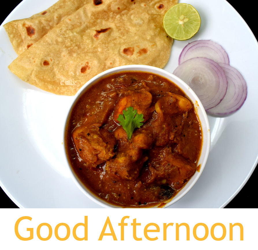 Chicken Curry Lunch with Good Afternoon Wish
