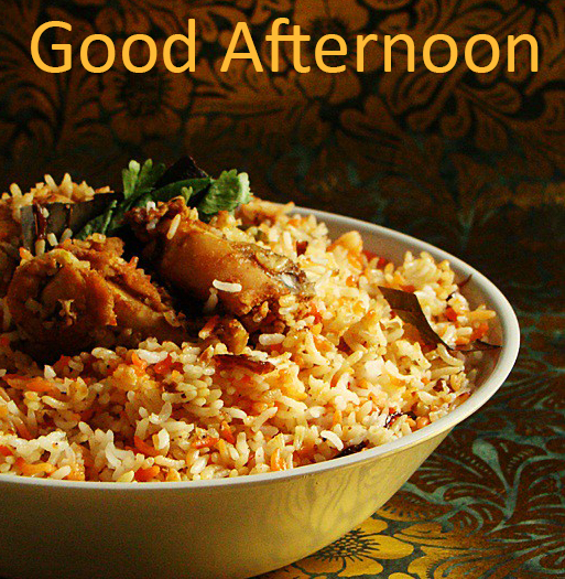 Good Afternoon Best Non Veg Lunch Image