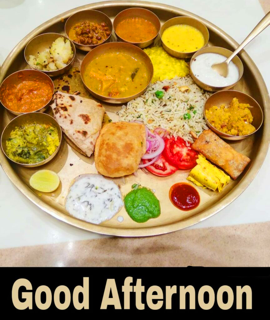 Good Afternoon Lunch Thali Image