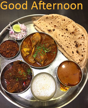 Good Afternoon Lunch Thali Pic