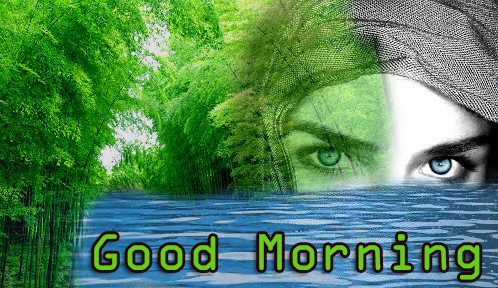 Good Morning Girl Nature Picture