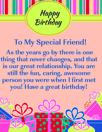 Happy Birthday Special Friend Message Picture