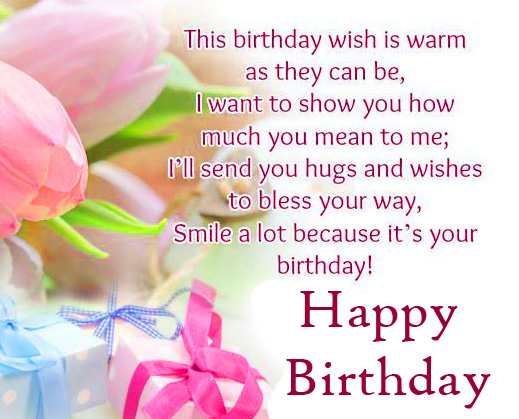 Happy Birthday Wish Message with Flowers