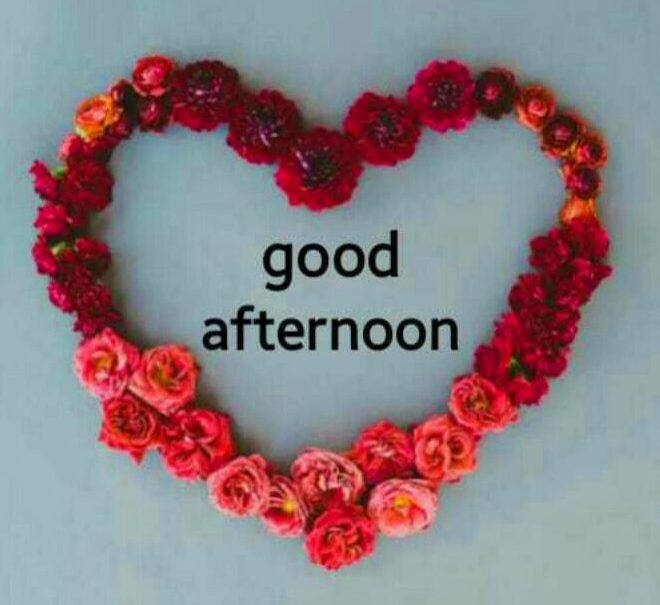 Heart Flowers Good Afternoon Image