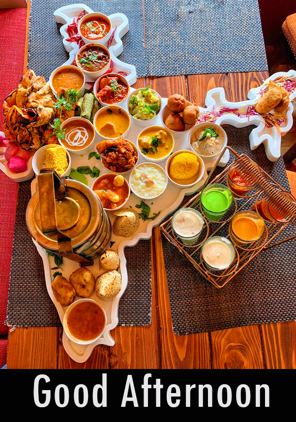 Indian Lunch Beautiful Good Afternoon Image