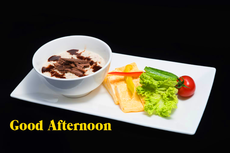 Lovely Lunch Good Afternoon Wallpaper