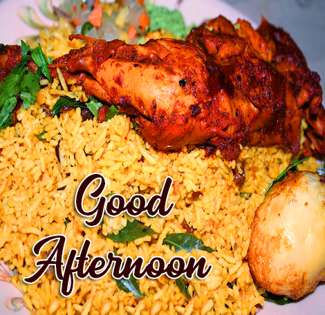 Non Veg Lunch Good Afternoon Image HD