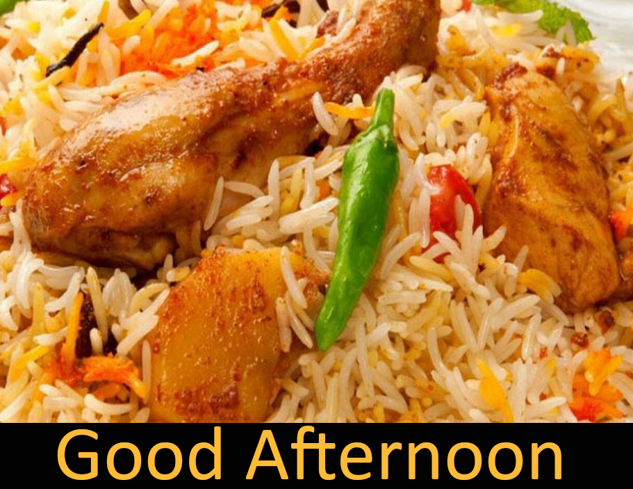 Rice Lunch Good Afternoon Image