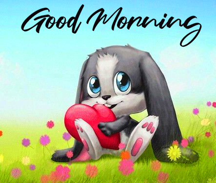 Beautiful and Cute Animated Good Morning Image