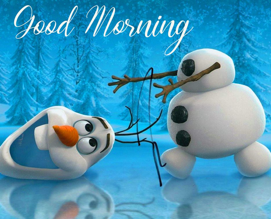 Good Morning Snowman Animated Picture
